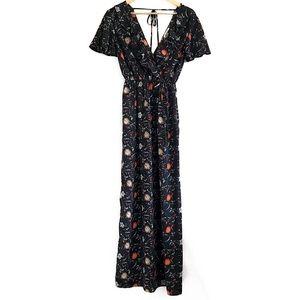 monteau   floral maxi dress